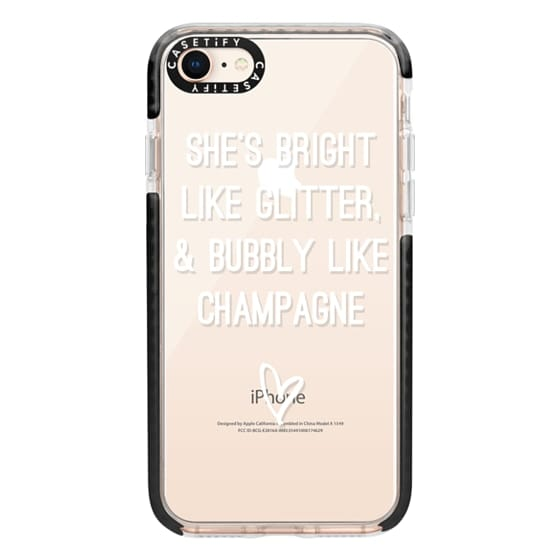 iPhone 8 Cases - Bright Like Glitter, Bubbly like champagne