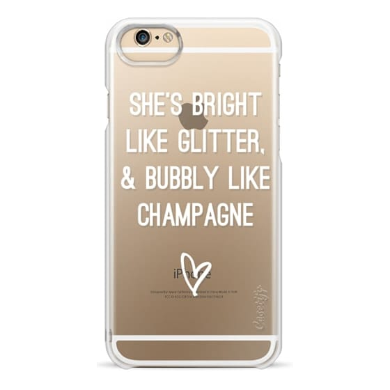 iPhone 6 Cases - Bright Like Glitter, Bubbly like champagne
