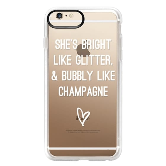 iPhone 6s Plus Cases - Bright Like Glitter, Bubbly like champagne