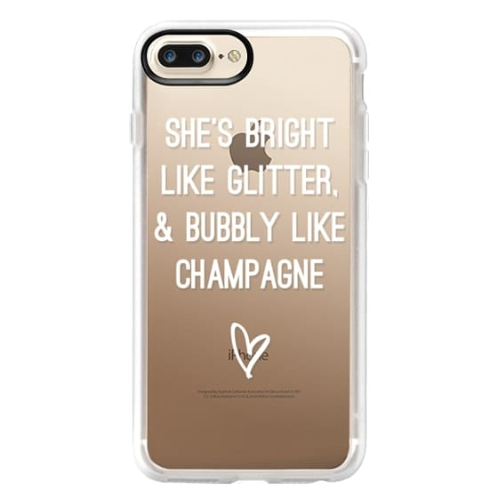 iPhone 7 Plus Cases - Bright Like Glitter, Bubbly like champagne