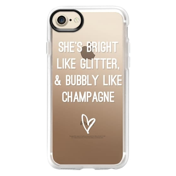 iPhone 4 Cases - Bright Like Glitter, Bubbly like champagne