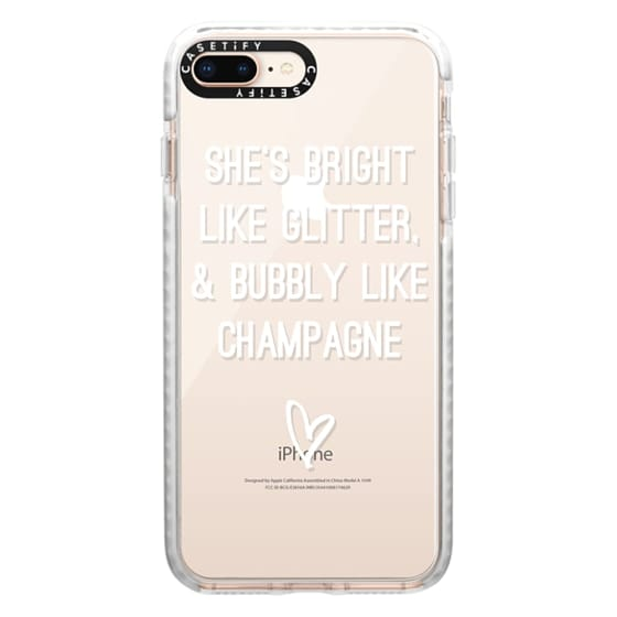 iPhone 8 Plus Cases - Bright Like Glitter, Bubbly like champagne