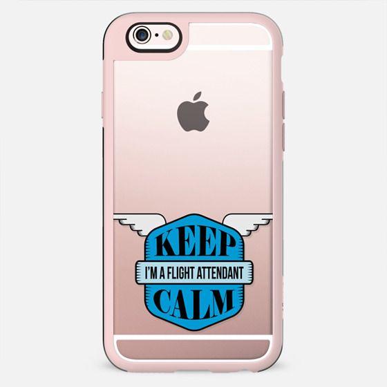 Blue Keep Calm modern logo - New Standard Case