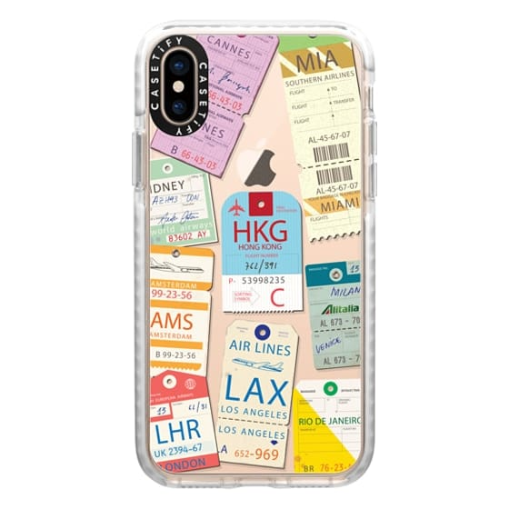 iPhone XS Cases - Airline tags2