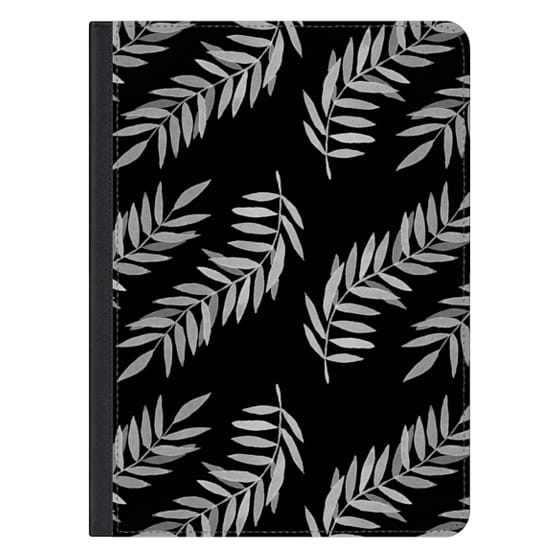 12.9-inch iPad Pro Covers - Plants Black & White Inverted