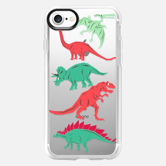 Geometric Dinosaurs - Wallet Case