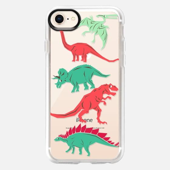 Geometric Dinosaurs - Snap Case