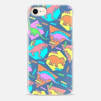 iPhone 8 Case 90's Dinosaur Pattern