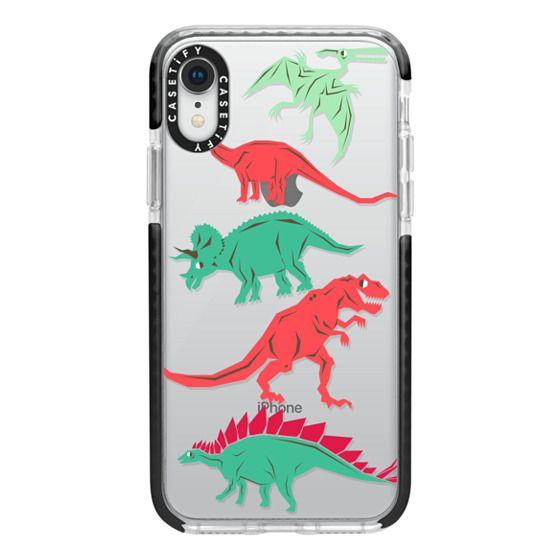 iPhone XR Cases - Geometric Dinosaurs
