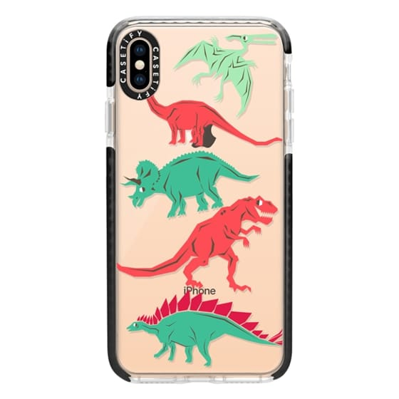 iPhone XS Max Cases - Geometric Dinosaurs