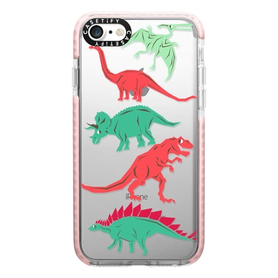 iPhone 7 Cases - Geometric Dinosaurs