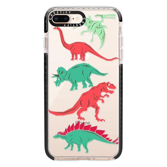 iPhone 8 Plus Cases - Geometric Dinosaurs