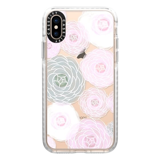 iPhone XS Cases - Blush Blooms