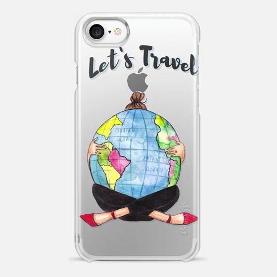 """Lets travel"" - Snap Case"