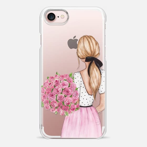 Blonde with roses - Snap Case