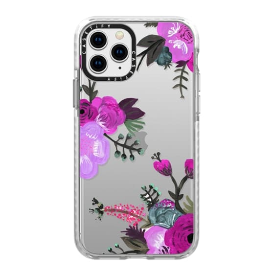 iPhone 11 Pro Cases - Purple Painted Floral