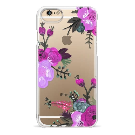 iPhone 6 Cases - Purple Painted Floral