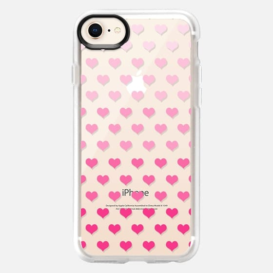 Ombre Hearts - Snap Case