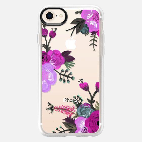 Purple Painted Floral - Snap Case