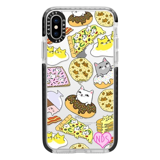 iPhone X Cases - Cats in Food