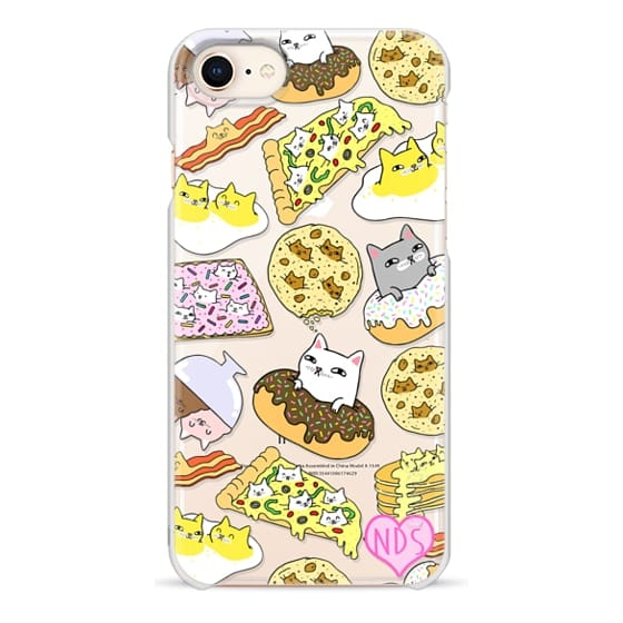 iPhone 8 Cases - Cats in Food