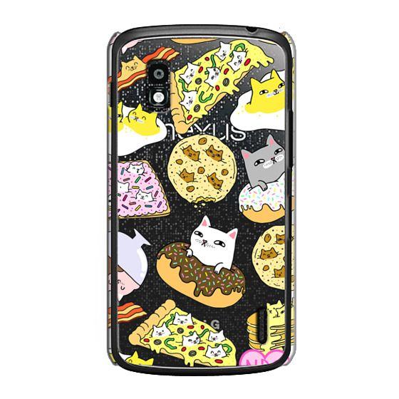 Nexus 4 Cases - Cats in Food