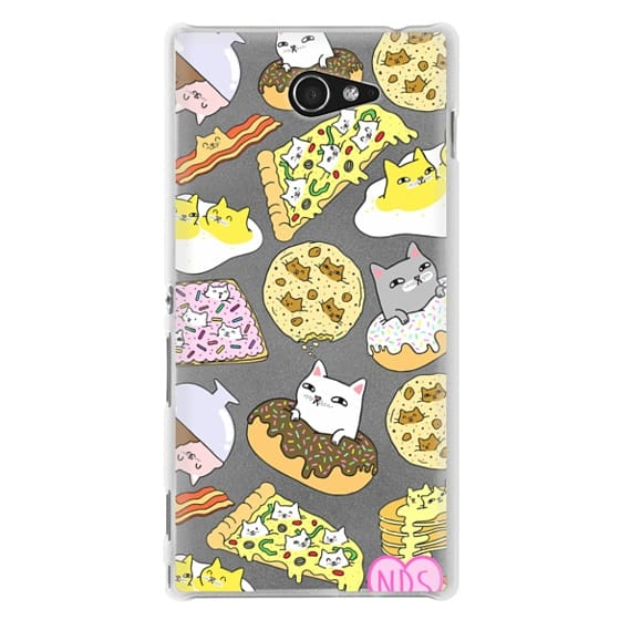 Sony M2 Cases - Cats in Food