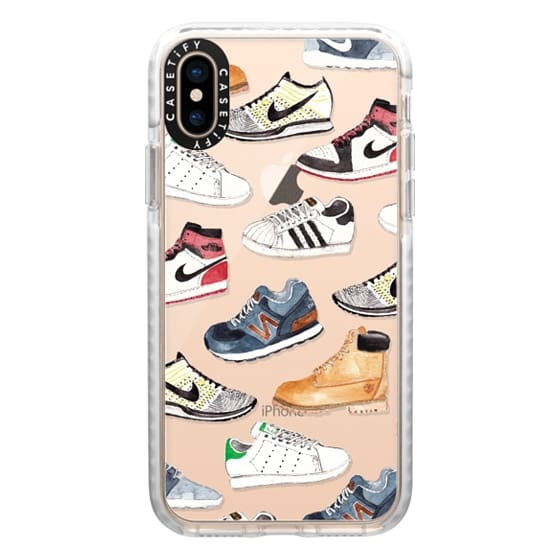 iPhone XS Cases - Watercolor Sneakers