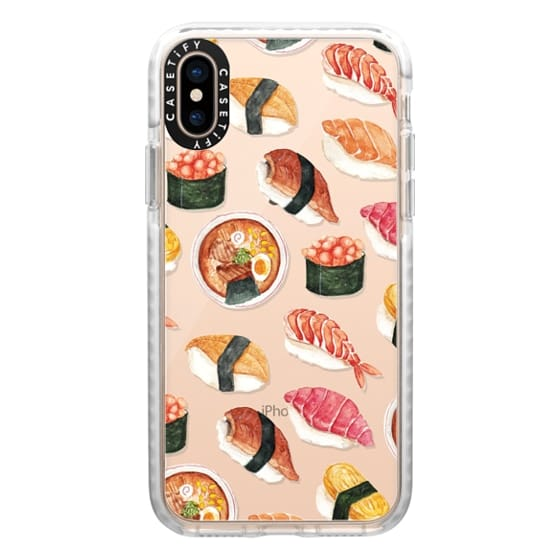 iPhone XS Cases - Watercolor Sushi