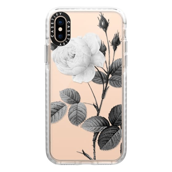 iPhone XS Cases - Black + White | Floral