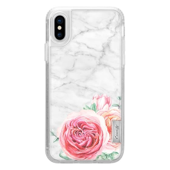 iPhone X Cases - MARBLE + FLORAL