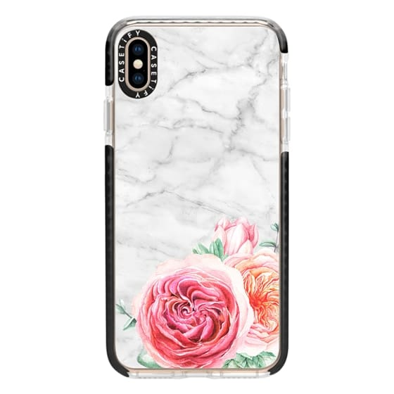 iPhone XS Max Cases - MARBLE + FLORAL