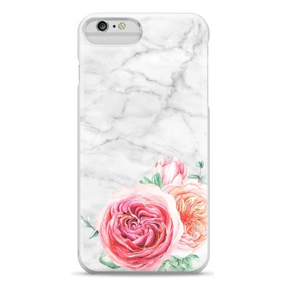 iPhone 6 Plus Cases - MARBLE + FLORAL