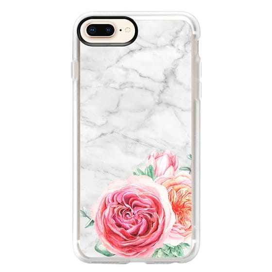 iPhone 8 Plus Cases - MARBLE + FLORAL