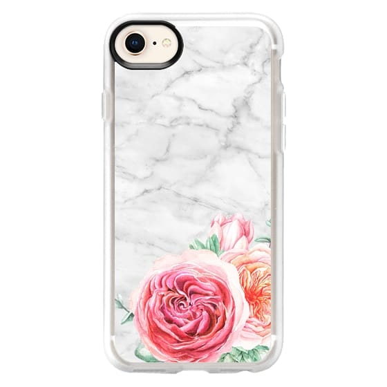 iPhone 8 Cases - MARBLE + FLORAL