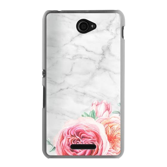 Sony E4 Cases - MARBLE + FLORAL