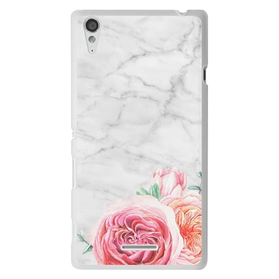 Sony T3 Cases - MARBLE + FLORAL