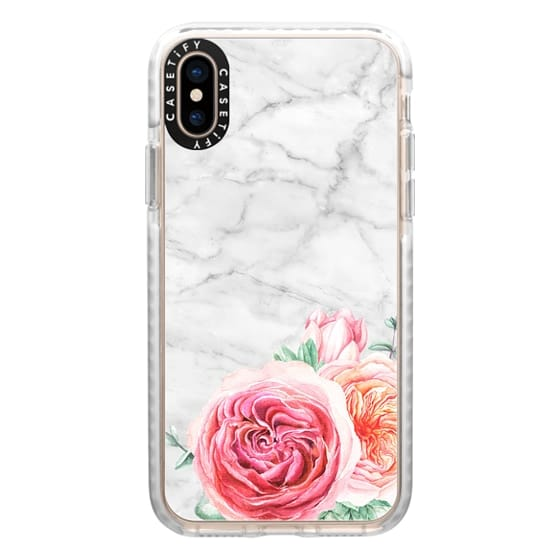 iPhone XS Cases - MARBLE + FLORAL
