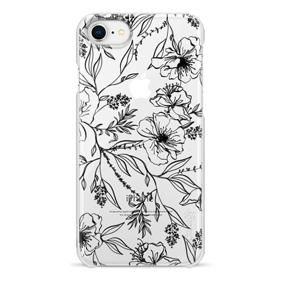iPhone 6s Cases - Floral Transparent Pattern - Black