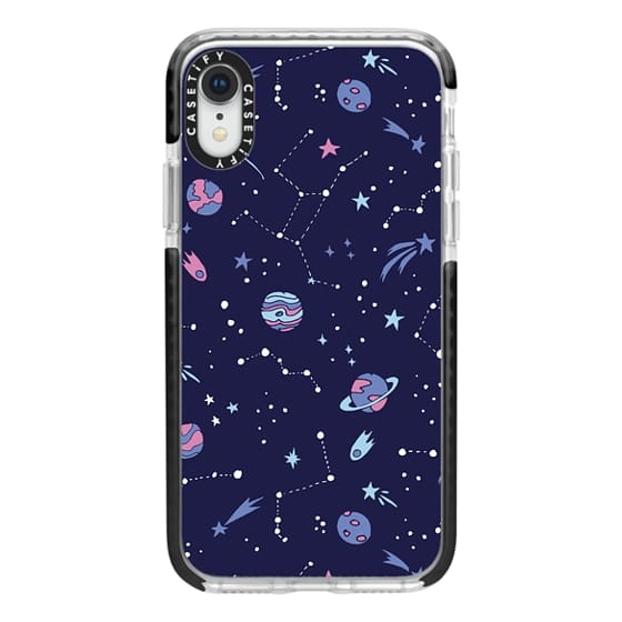 iPhone XR Cases - Shooting Star Pattern in Purple