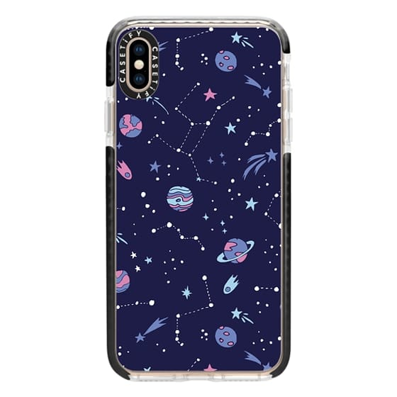 iPhone XS Max Cases - Shooting Star Pattern in Purple