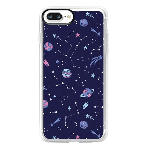 iPhone 7 Plus Cases - Shooting Star Pattern in Purple