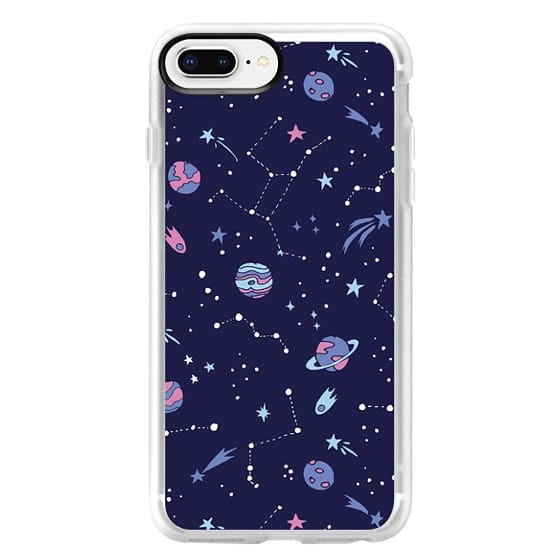 iPhone 8 Plus Cases - Shooting Star Pattern in Purple