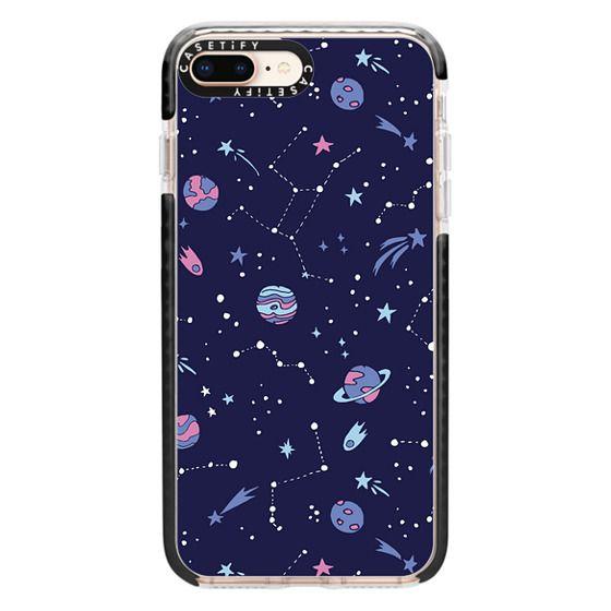 iPhone 8 Plus Cases - Shooting Star Pattern in Purple