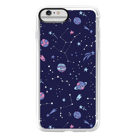 iPhone 6 Plus Cases - Shooting Star Pattern in Purple