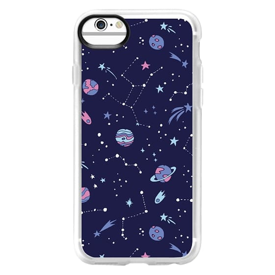 iPhone 6 Cases - Shooting Star Pattern in Purple