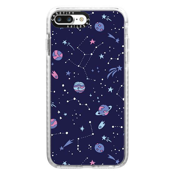 iPhone 7 Plus Cases - Shooting Star Pattern in Purple