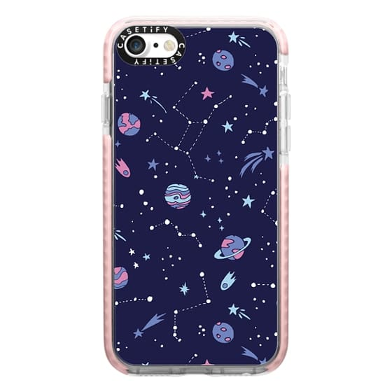 iPhone 7 Cases - Shooting Star Pattern in Purple