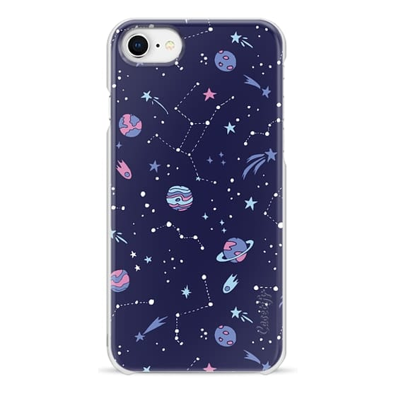 iPhone 8 Cases - Shooting Star Pattern in Purple