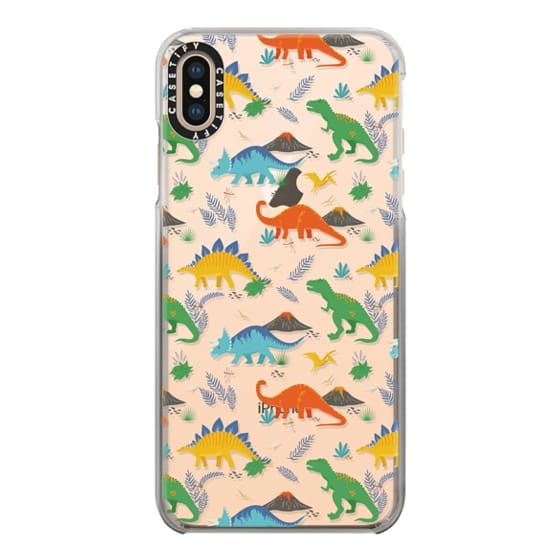 iPhone XS Max Cases - Jurassic Dinosaurs in Primary Colors